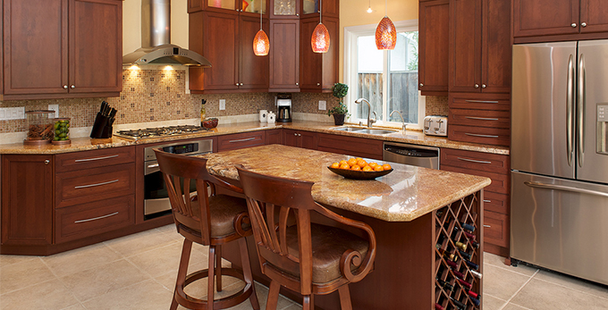 San ramon residence kitchen remodel the cabinet center for Kitchen design 94070
